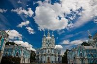 Смольный собор-1748-1835,архитектор Б.Растрелли
