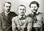М. Волошин с друзьями Л.В. Кандауровым и В.П. Ищеевым. Рим, 1900 г.
