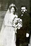М. Волошин и М. Сабашникова в день свадьбы. 12 апреля 1906 г. Москва.