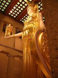 Реконструкция скульптуры Афины Парфенос