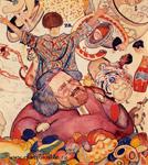 А. Габричевский. Праздничное меню (фрагмент). Коктебель, 1925