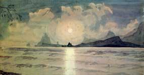 Ведет сквозь волны и туманы мой лунный одинокий путь.