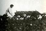 М.С. Волошина на могиле М. Волошина. 1930-е гг.
