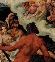 Афродита с Аресом, пойманные Гефестом