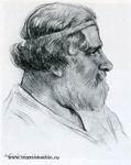 Портрет работы Н. Радлова. Коктебель, 1932